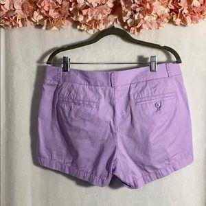 J. Crew Shorts - J Crew Lavender Chino Broken -in short size 8